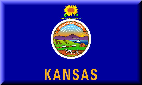 Kansas state flag, medical clinics