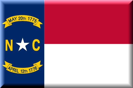 North Carolina state flag, medical clinics