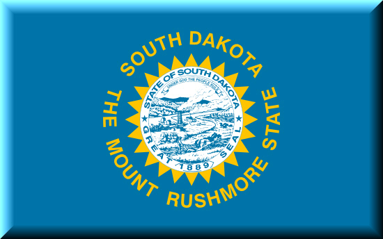 South Dakota state flag, medical clinics