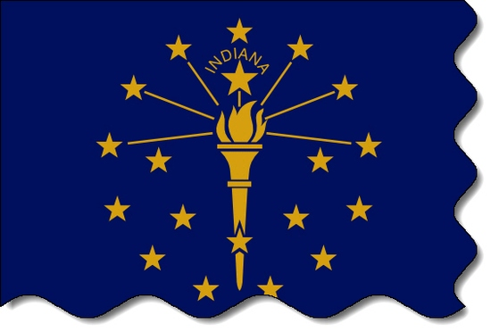 Indiana state flag, medical clinics