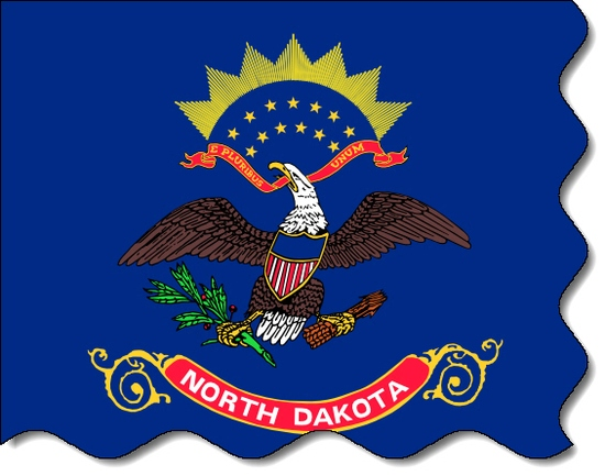 North Dakota state flag, medical clinics