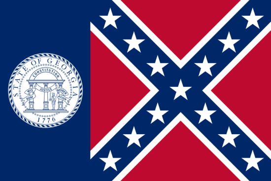 Georgia state flag, medical clinics