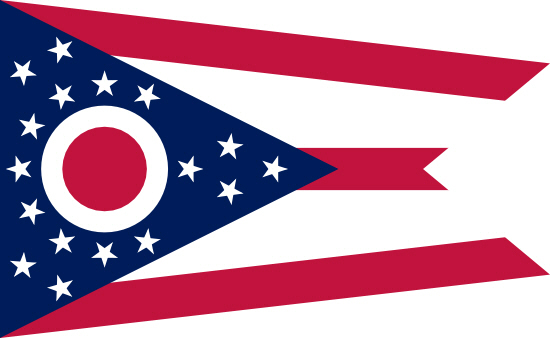 Ohio state flag, medical clinics