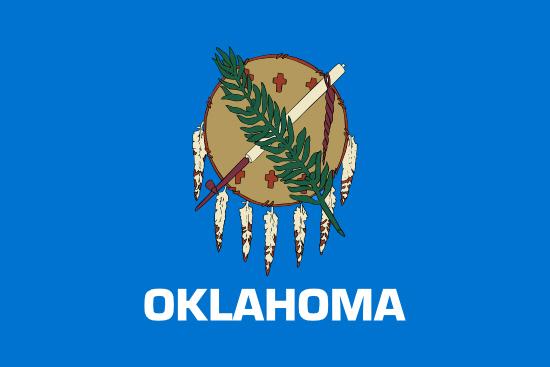 Oklahoma state flag, medical clinics