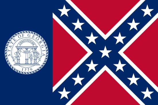Georgia state flag, medical clinics