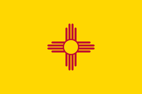 New Mexico state flag, medical clinics