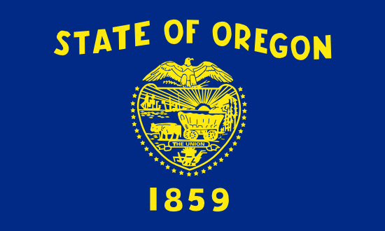 Oregon state flag, medical clinics