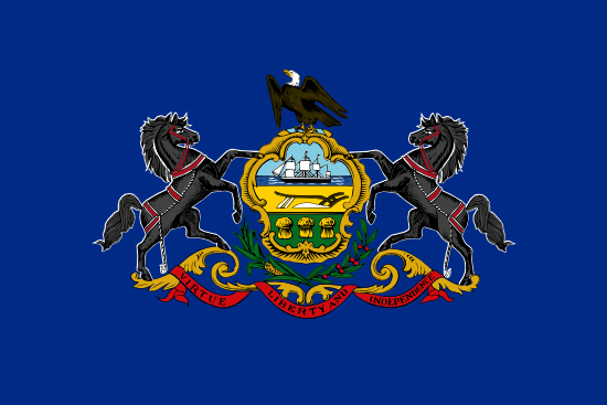 Pennsylvania state flag, medical clinics
