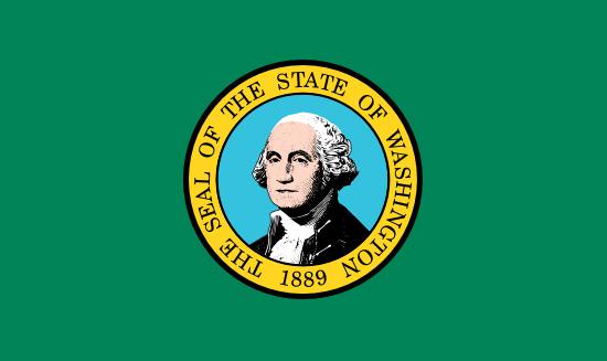Washington state flag, medical clinics