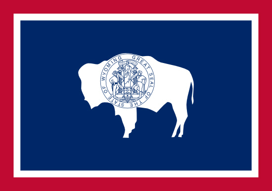 Wyoming state flag, medical clinics