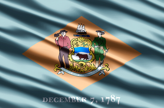 Delaware state flag, medical clinics