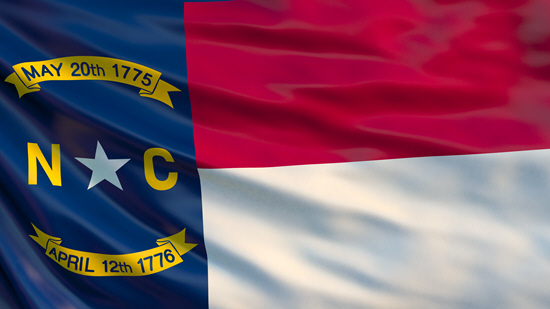 North Carolina state flag, medical clinics