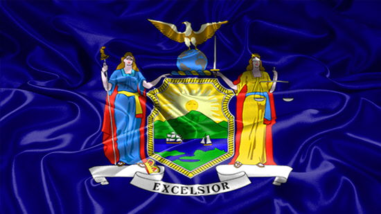 New York state flag, medical clinics