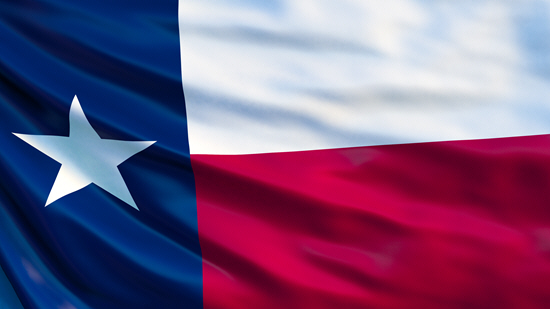 Texas state flag, medical clinics