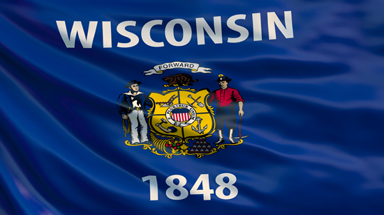 Wisconsin state flag, medical clinics