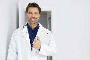 Sermorelin doc with blue shirt and white coat 300x200