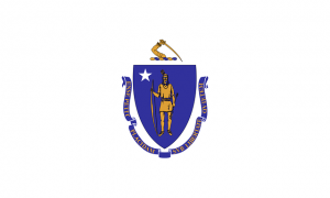 Massachusetts state flag 300x180